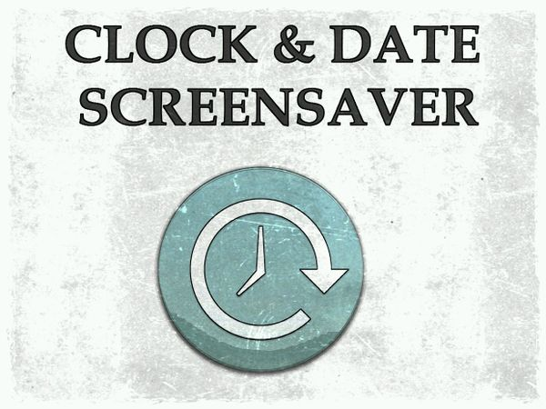 CLOCK&DATE SCREENSAVER
