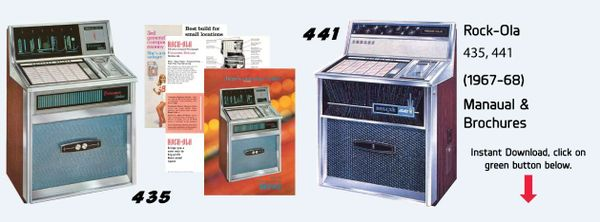 Rock-Ola 435 Princess Deluxe, Includes 441 Deluxe Manual