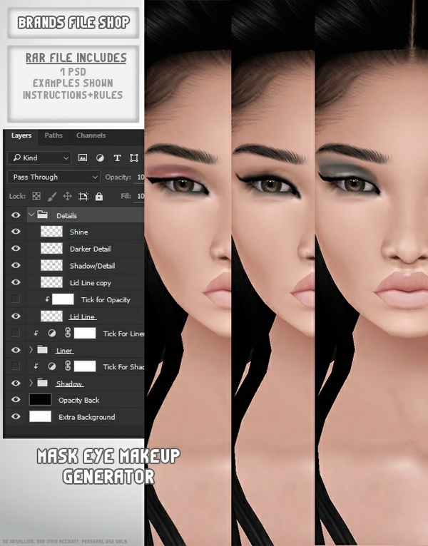 Mask Eye Makeup Generator