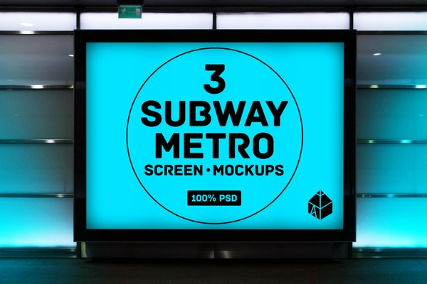 Subway Metro Screen Mockups