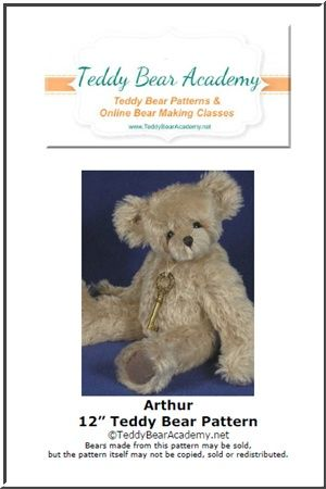 "Arthur - 12"" Teddy Bear Pattern w/ resell rights of finished product"