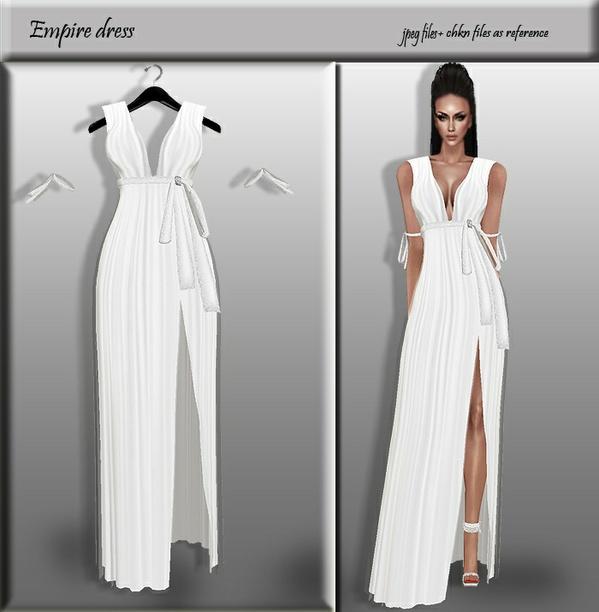 Empire White Dress