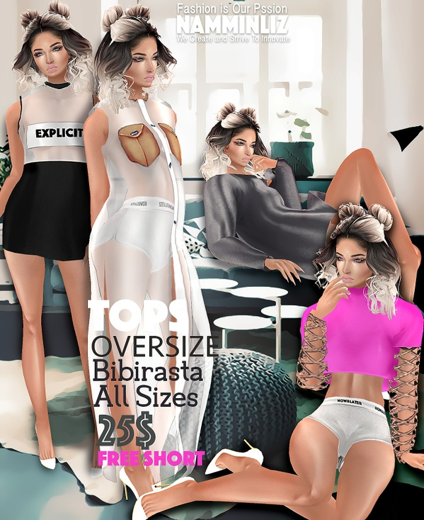 B O X 4 OVERSIZE Tops Bibirasta + Free short sis3d Limited to 5 customers with Normal resell right