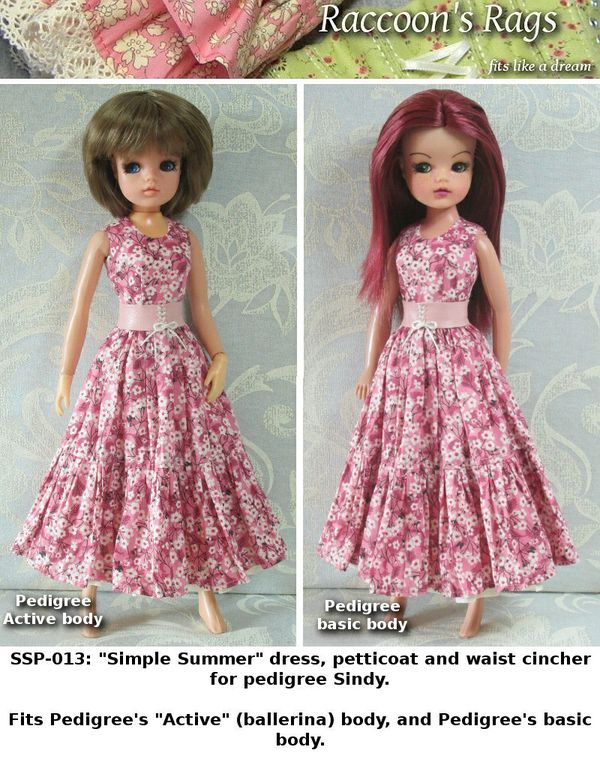 "SSP-013: ""Simple Summer"" For Pedigree Sindy basic body and Active (ballerina) body."