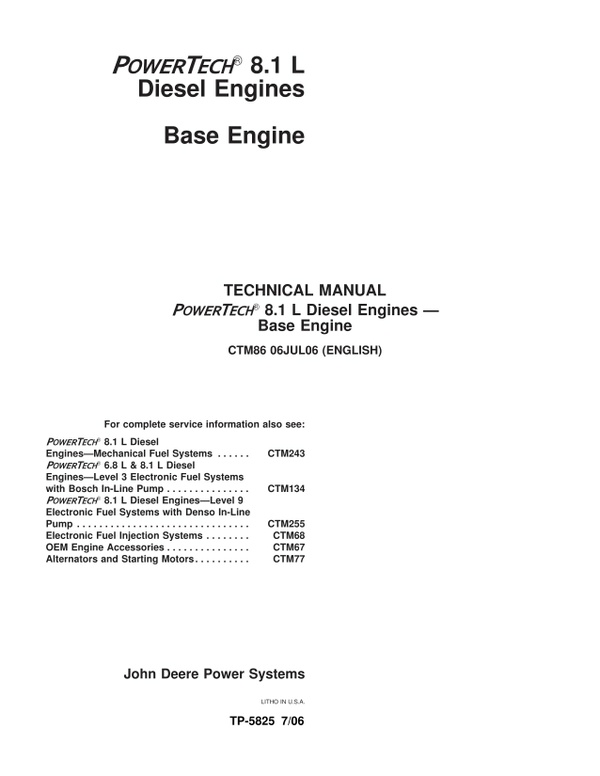 Powertech 6081 8.1L engine manual
