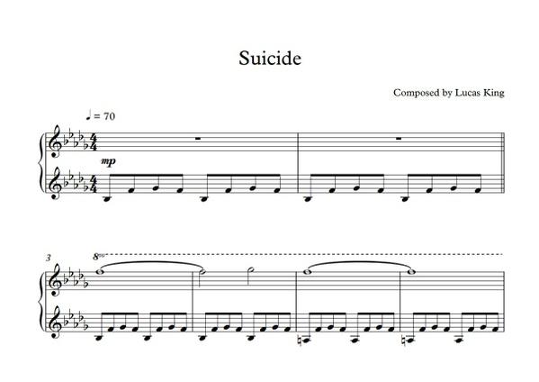 Lucas King - Suicide Sheet Music