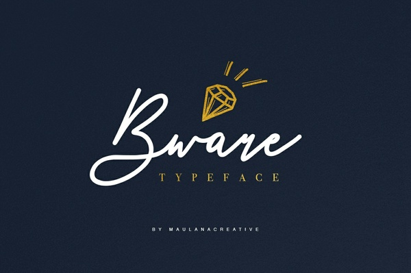 Bware Typeface Handmade Font