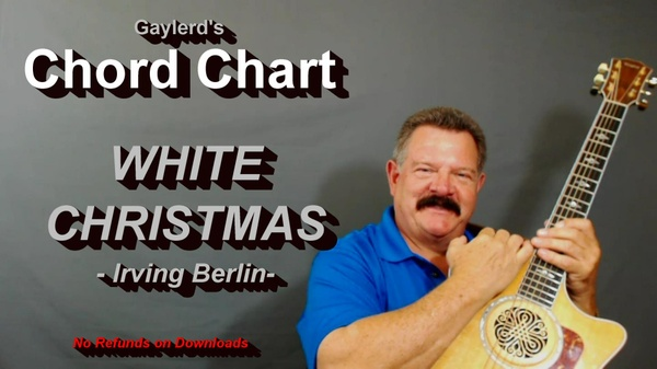 WHITE CHRISTMAS - Chord Chart for Beginners