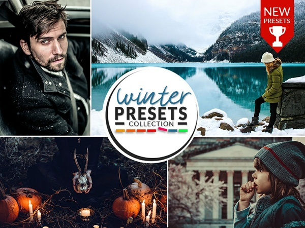 WINTER PRESETS (PHOTOSHOP) COLLECTION 2018!