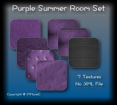 7 Purple Summer Room Textures