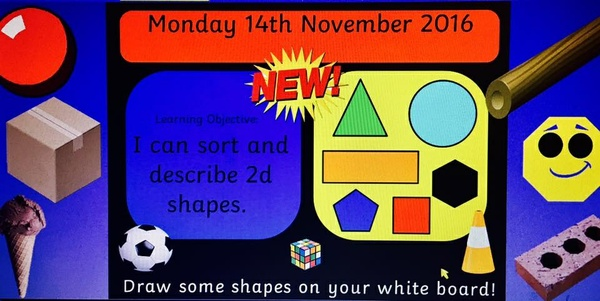 Shapes Flipchart Slides 2D and 3D