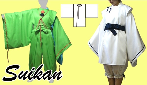 Suikan. japanese old style jacket.  (Paper pattern)