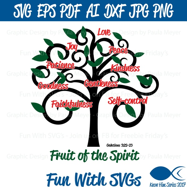 Fruit of the Spirit - SVG Cut File, High Resolution Printable Graphics and Editable Vector Art