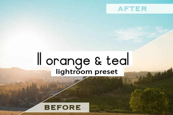 ORANGE & TEAL - Lightroom Presets (Lite|Strong)