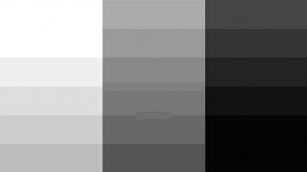 Grey Chart in 4K Resolution