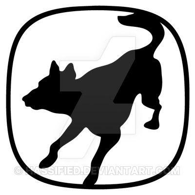 Service Canine Emblem Outline