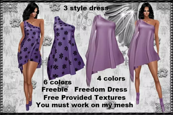 Freedom Dress Provided free textures