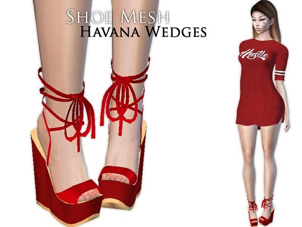 IMVU Mesh - Shoes - Havana Wedges