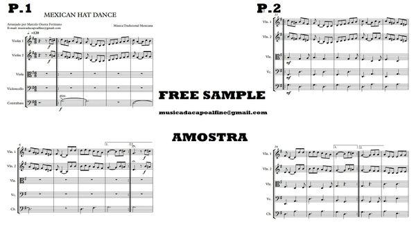 String Quintet - Mexican Hat Dance - Score and parts.pdf Partitura