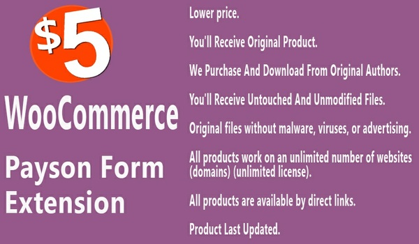 WooCommerce Payson Form Extension