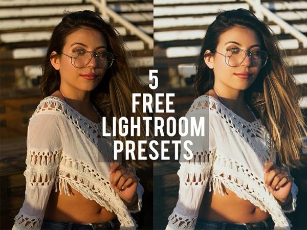 5 FREE LIGHTROOM PRESETS
