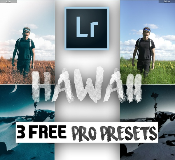 """HAWAII TRIAL"" 3 Pro Travel Lightroom Presets 