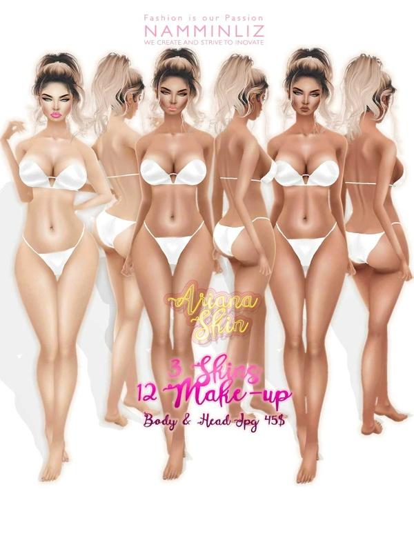 Ariana 3 Skins + 12 Make-up imvu JPG