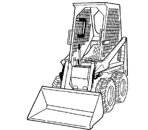 Bobcat 444, 500 & EARLY 600 Loader Service Repair Manual Download
