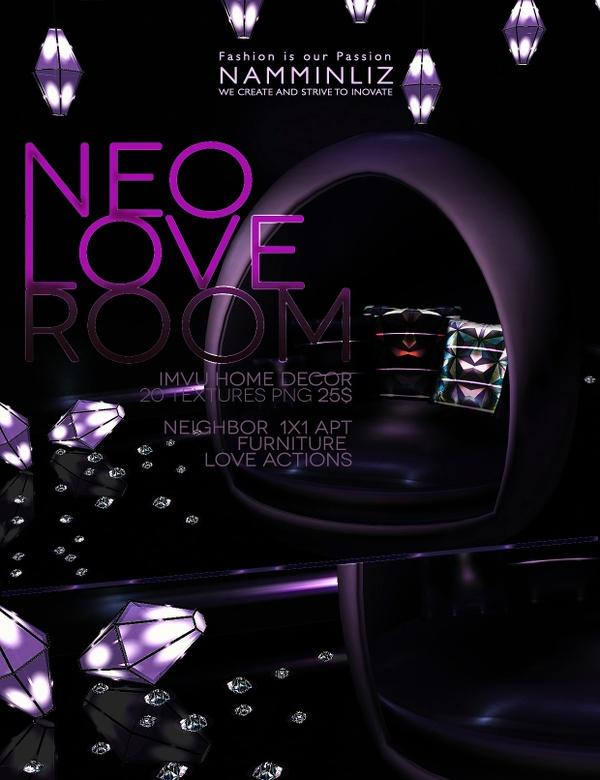 NEO LOVE ROOM IMVU 20 Textures PNG