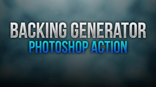 Backing Generator Photoshop Action