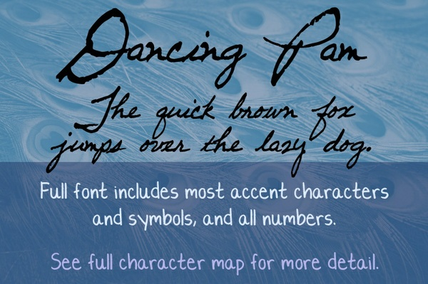 Dancing Pam Font - General Commercial License
