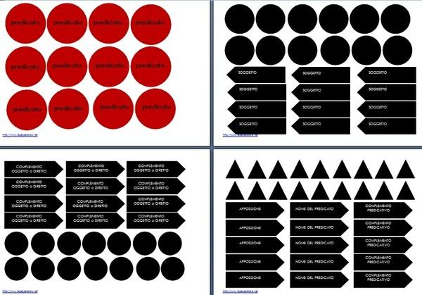analisi logica Montessori scatola C1c colore