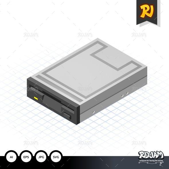 Isometric Floppy Drive