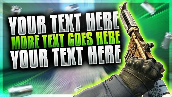 CSGO YouTube Thumbnail Template Pack