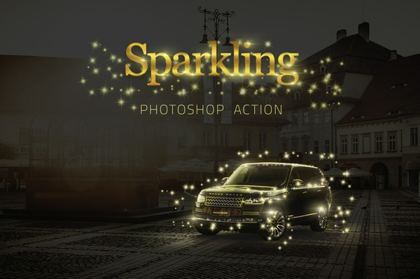 Sparkling Star Photoshop Action