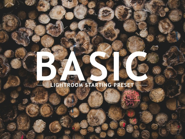 BASIC Lightroom Preset