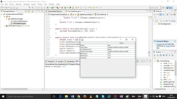 III. Programming tasks