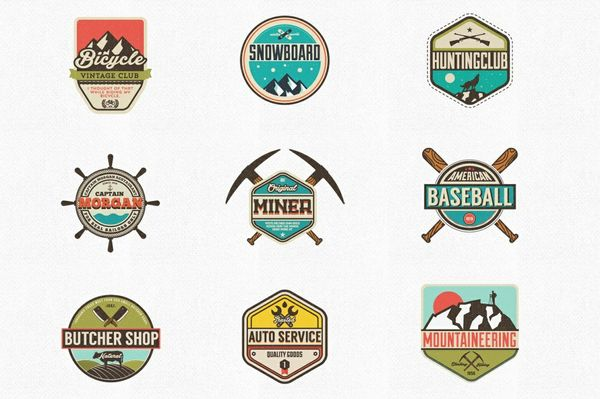 Vintage Badges & Labels