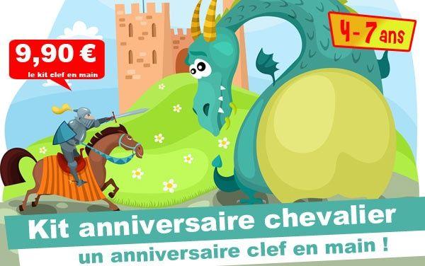 (4/7 ans) Kit anniv. Chevalier & Princesse: l'épée magique