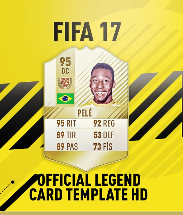FIFA 17 OFFICIAL LEGEND CARD TEMPLATE HD