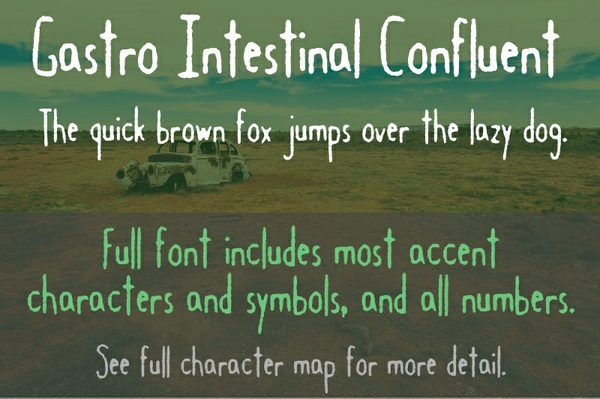 Gastro Intestinal Confluent Font - General Commercial License