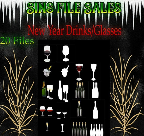 New Year Drinks/Glasses
