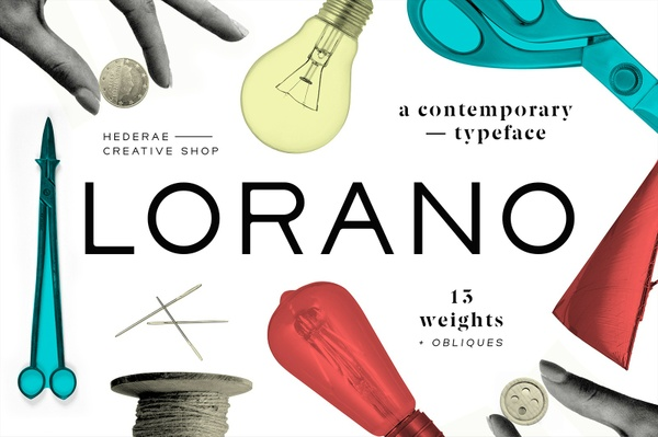 Lorano Typeface  Free Weight