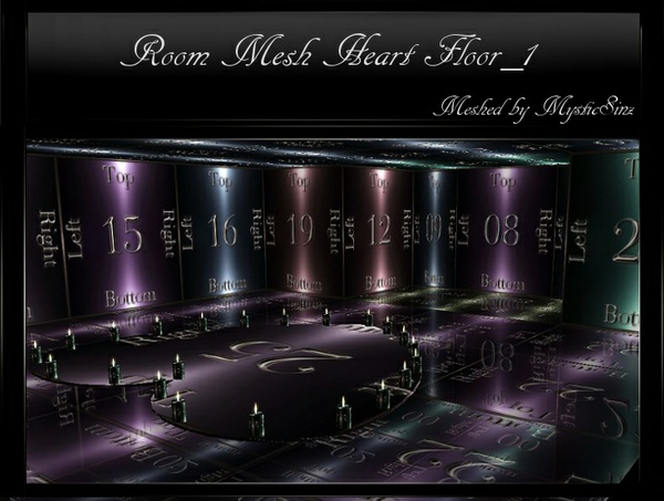 IMVU Mesh Reflect Room Heart Floor