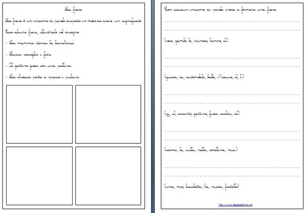 Esercizi di grammatica per la CLASSE SECONDA