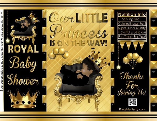 POTATO-chip-favor-bags-royal-PRINCESS-BABY-SHOWERgoldblack