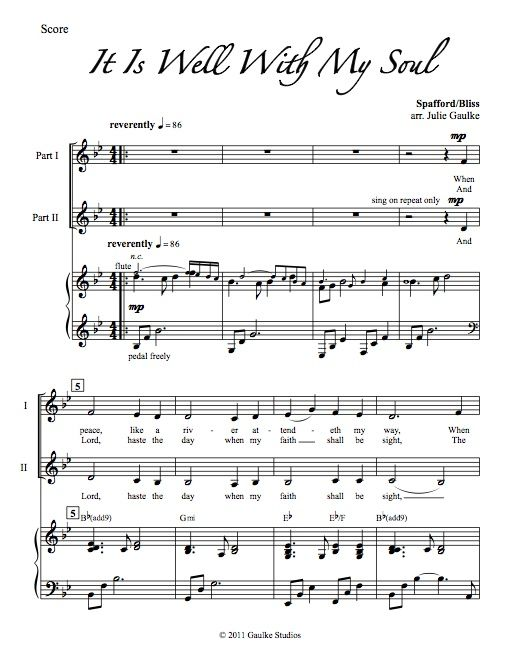 It Is Well With My Soul - original arrangement