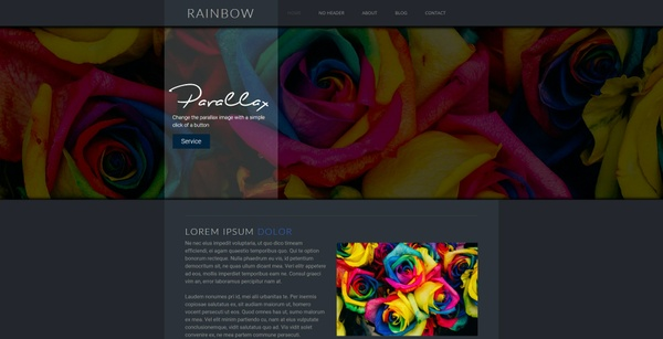 Rainbow [Dark] Weebly Theme