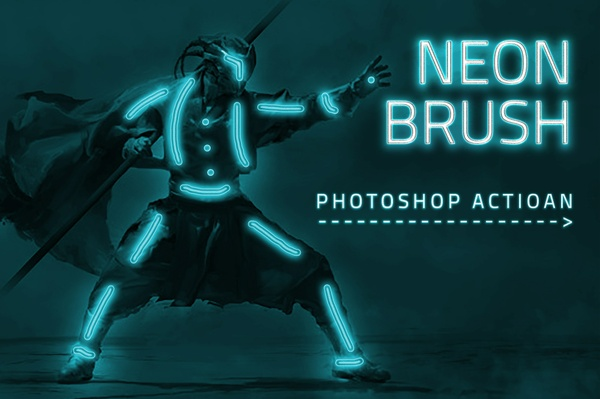 Neon Brush Photoshop Action