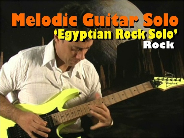 "MELODIC GUITAR ROCK SOLO / MALMSTEEN VAN HALEN STYLE ""EGYPTIAN"""
